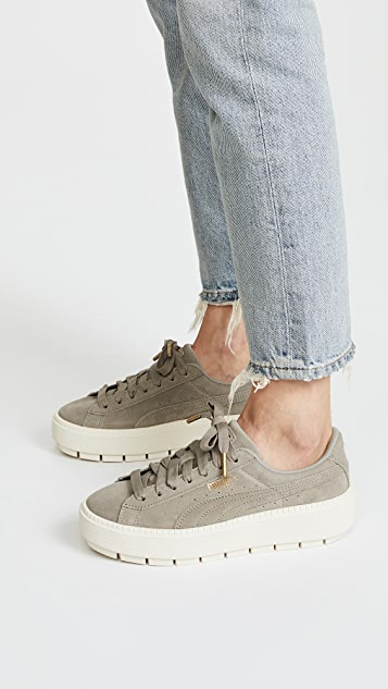 Puma Suede Platform in beige. Love them so much! Makes every