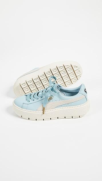 PUMA Basket Platform Trace Block Sneakers