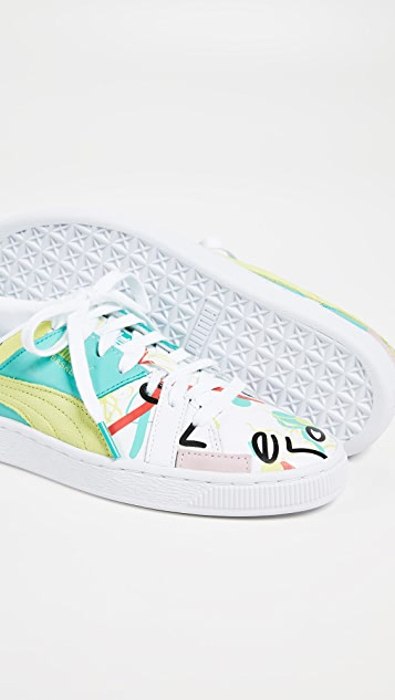 ... PUMA Basket Graphic SM Sneakers ... bbb3fe3fc0ff7
