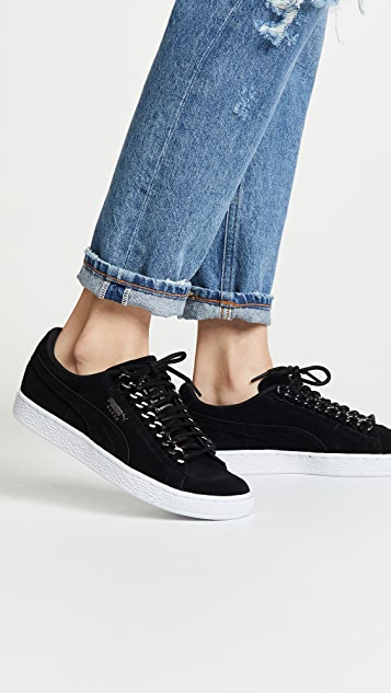 Suede Chain Sneakers