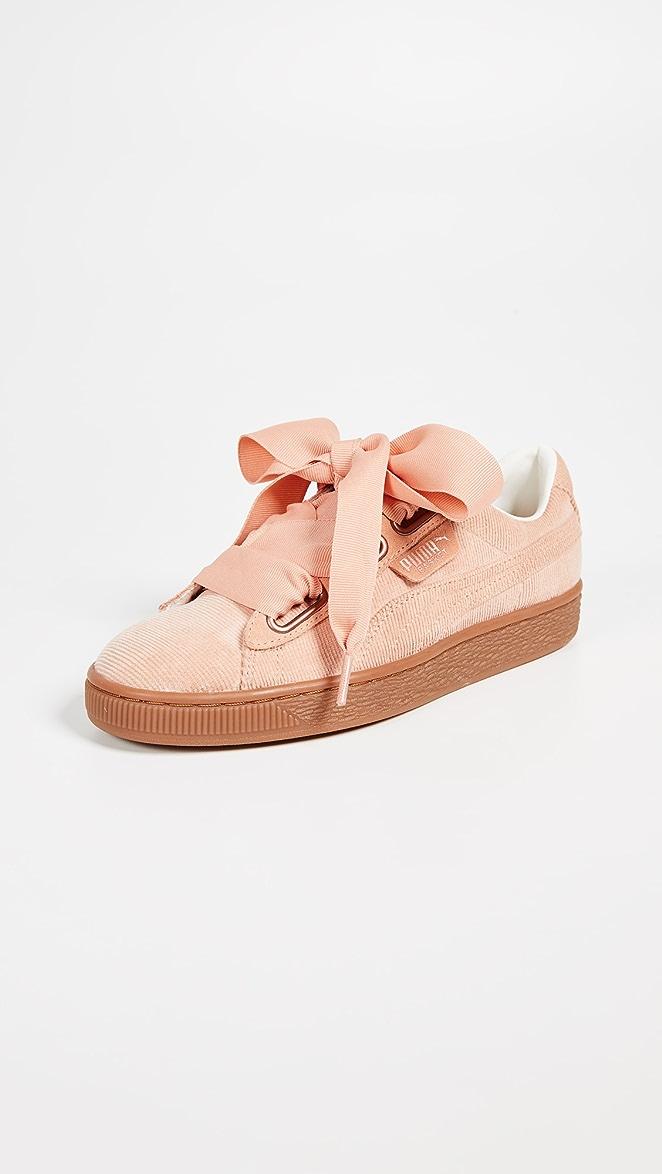 Puma Basket Heart Corduroy W shoes pink