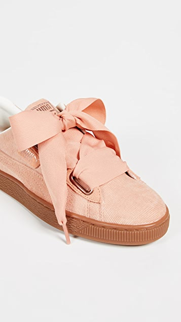 PUMA Basket Heart Corduroy Sneakers