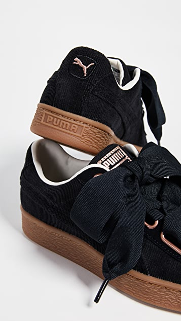Basket Heart Corduroy Sneakers