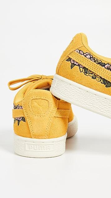 PUMA Классические замшевые кроссовки с вышивкой TOL