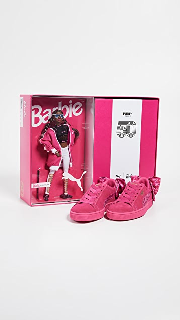 PUMA Suede Classic Sneakers with Barbie Doll