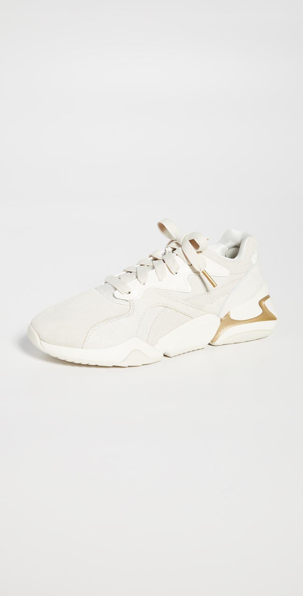 puma nova pastel grunge sneakers whisper white