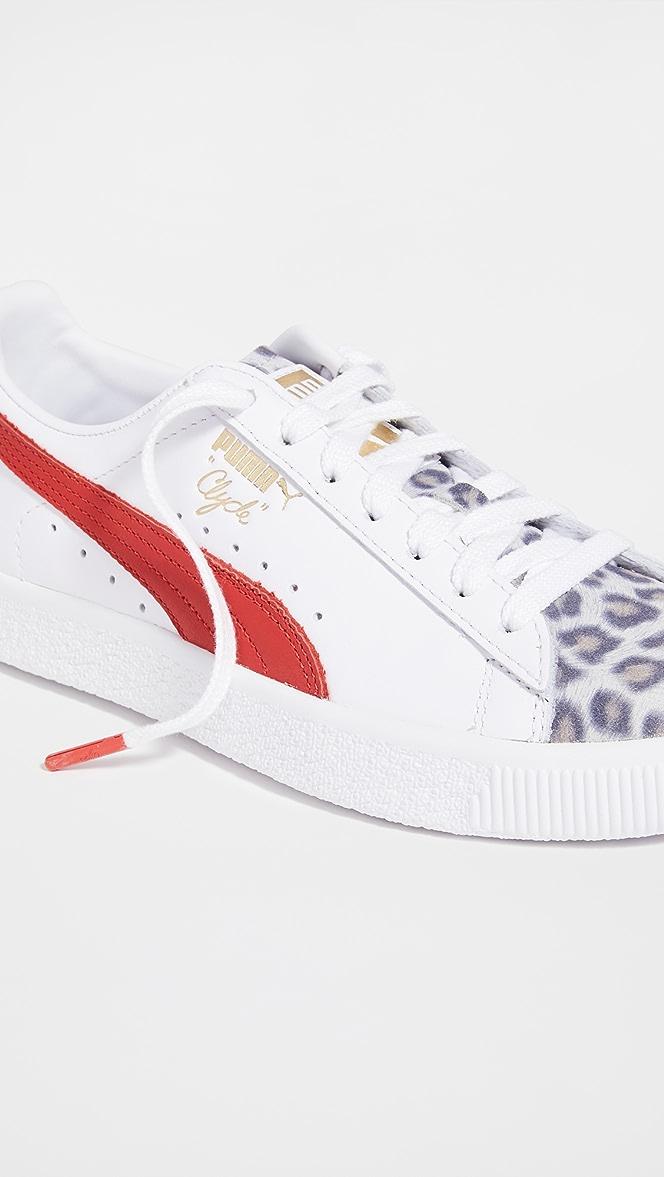 PUMA Clyde Leopard Sneakers | SHOPBOP