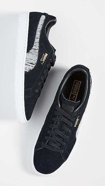 PUMA Select Suede Ripped Denim Sneakers