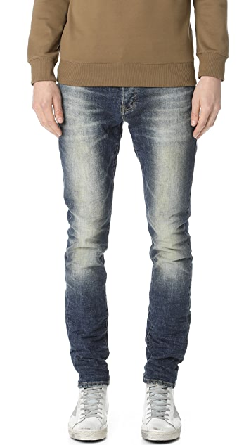 Purple Denim Slim Fit Denim Jeans