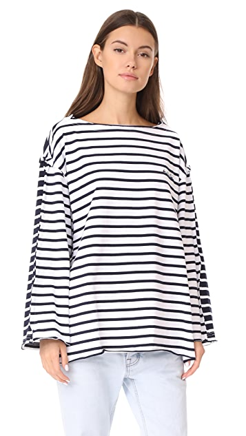 pushBUTTON Contrast Stripe Tee