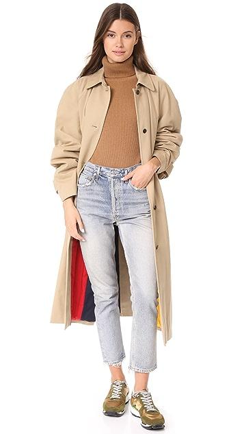pushBUTTON Reversible Long Colorblock Coat