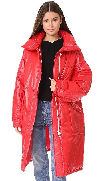 pushBUTTON Длинная пуховая куртка