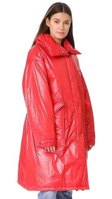 pushBUTTON Long Puffer Jacket