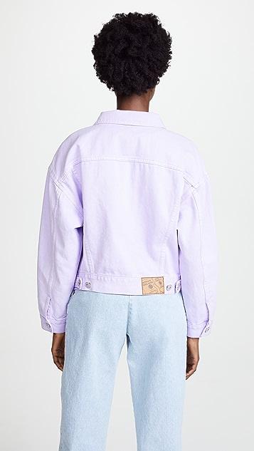 pushBUTTON Violet Denim Jacket