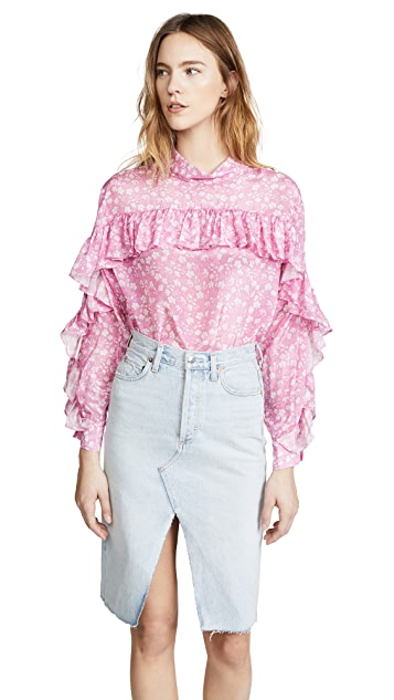 pushBUTTON Ruffle Blouse