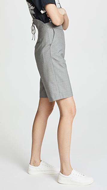 pushBUTTON High Waist Mid Shorts