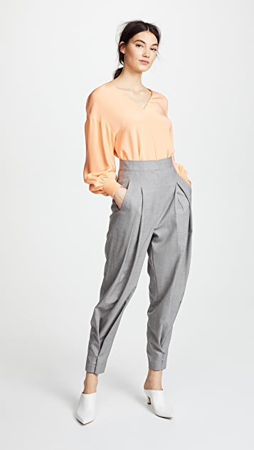 pushBUTTON High Waist Trousers