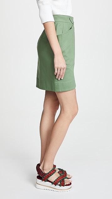 pushBUTTON Cross Front Skirt