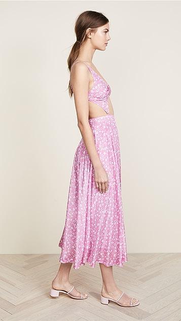 pushBUTTON V Neck Cutout Dress