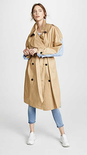 pushBUTTON Combo Trench Coat