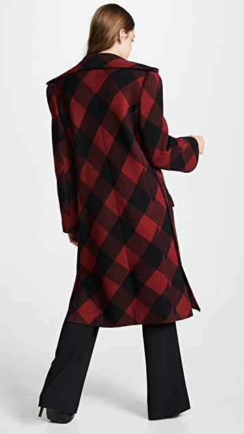 pushBUTTON Plaid Double Breasted Coat