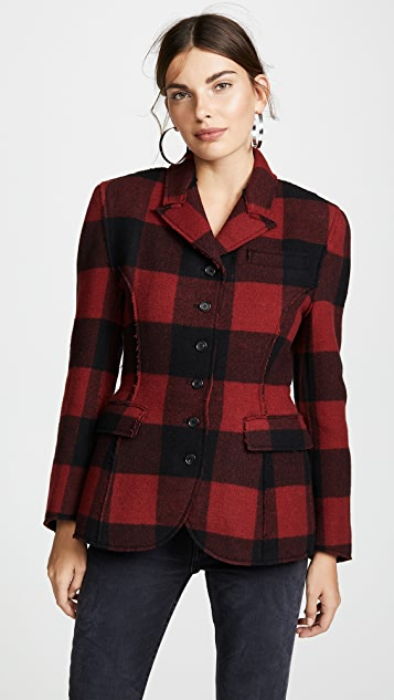 pushBUTTON Plaid Combo Blazer