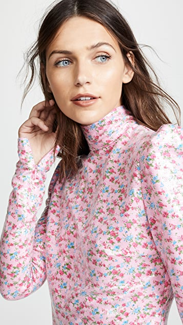 pushBUTTON Расшитая блестками блуза с цветочным узором