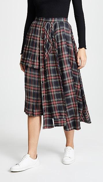 pushBUTTON Plaid Ruffle Skirt
