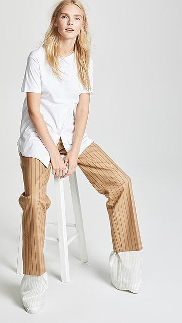 pushBUTTON Combo Hem Pinstripe Pants