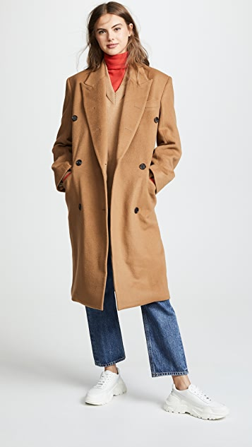 pushBUTTON Double Breasted Coat