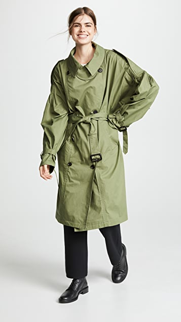 pushBUTTON Oversized Trench Coat
