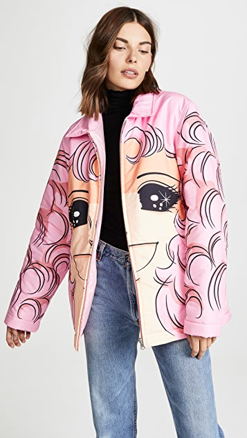 pushBUTTON Don't Cry Anymore Puffer Coat
