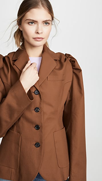 pushBUTTON Блуза с рукавами-буфами