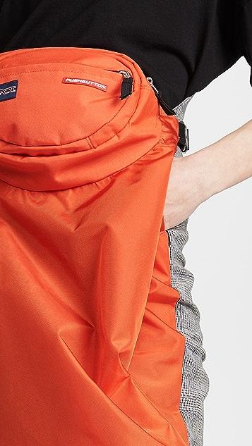 pushBUTTON Контрастная практичная юбка