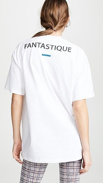 pushBUTTON Flowy Hair T-shirt