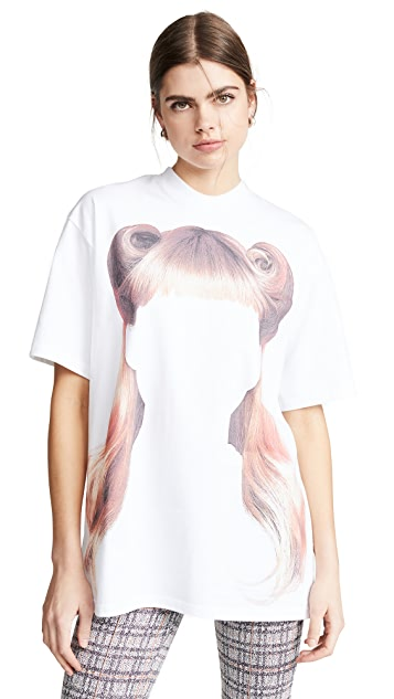 pushBUTTON Flowy Hair T 恤