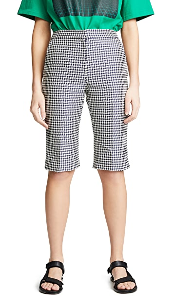 pushBUTTON Houndstooth Trouser Shorts