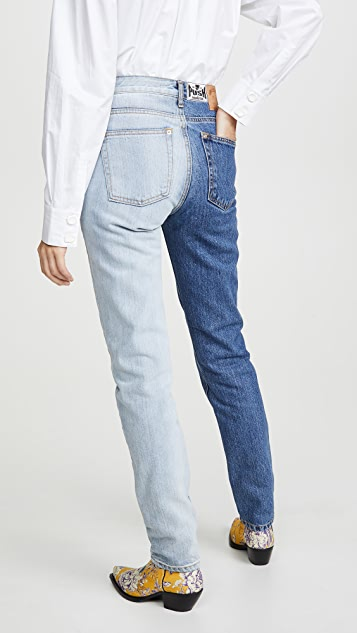 Bi Color Jeans by Push Button