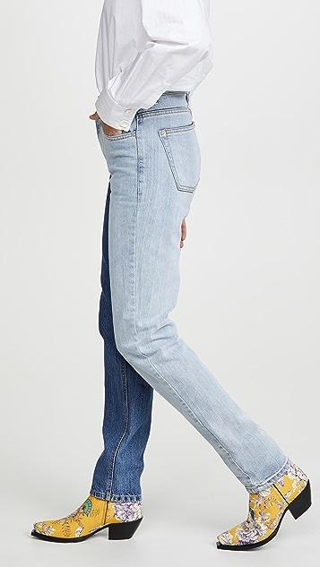 pushBUTTON Двухцветные джинсы