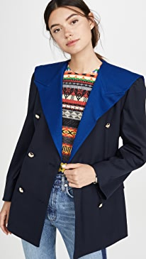 Navy Sailor Double Jacket