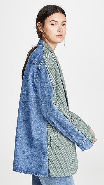 pushBUTTON Жакет-рубашка с рисунком в клетку на спине