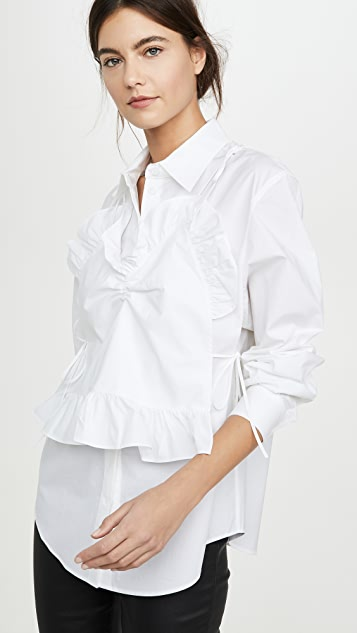 pushBUTTON Front Frill Point Shirts