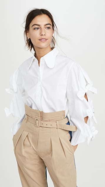 pushBUTTON Tie Detailed Shirt