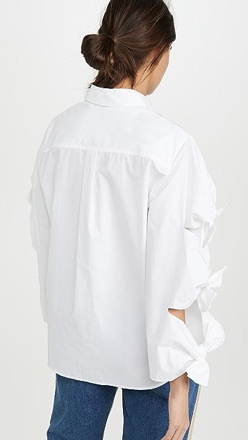 pushBUTTON Tie Detailed Shirt
