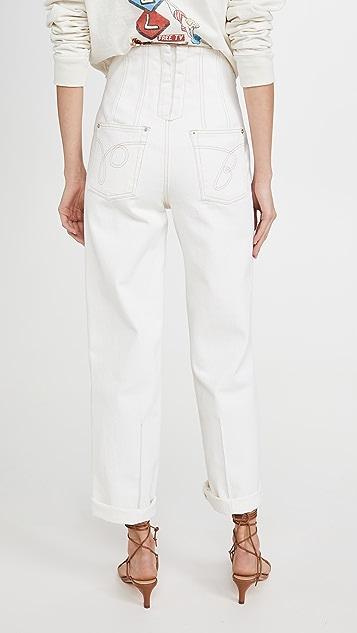 推扣设计 Backup Color 牛仔裤