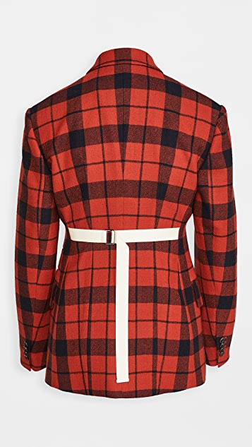 推扣设计 系腰带背面单层夹克