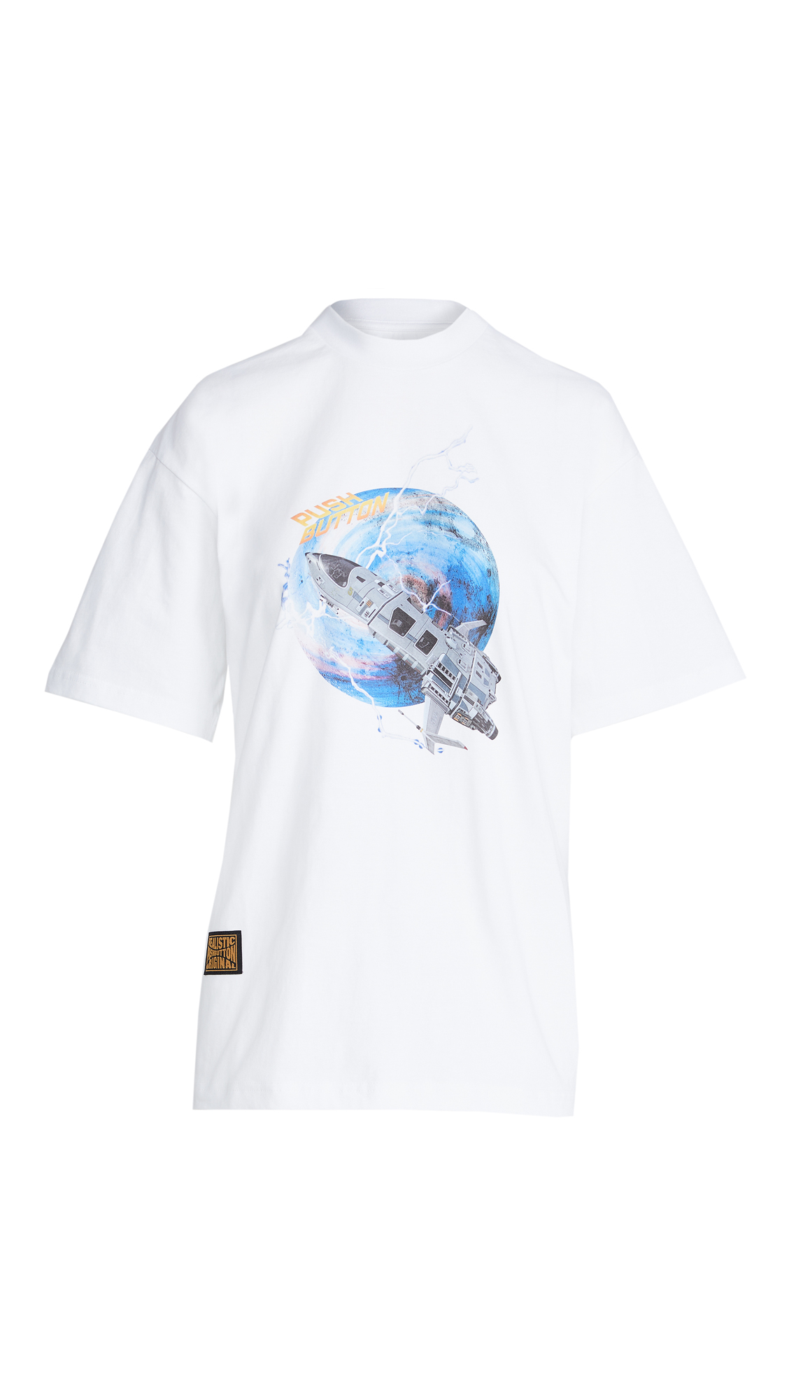 pushBUTTON Spacecraft Short Sleeved T-Shirt