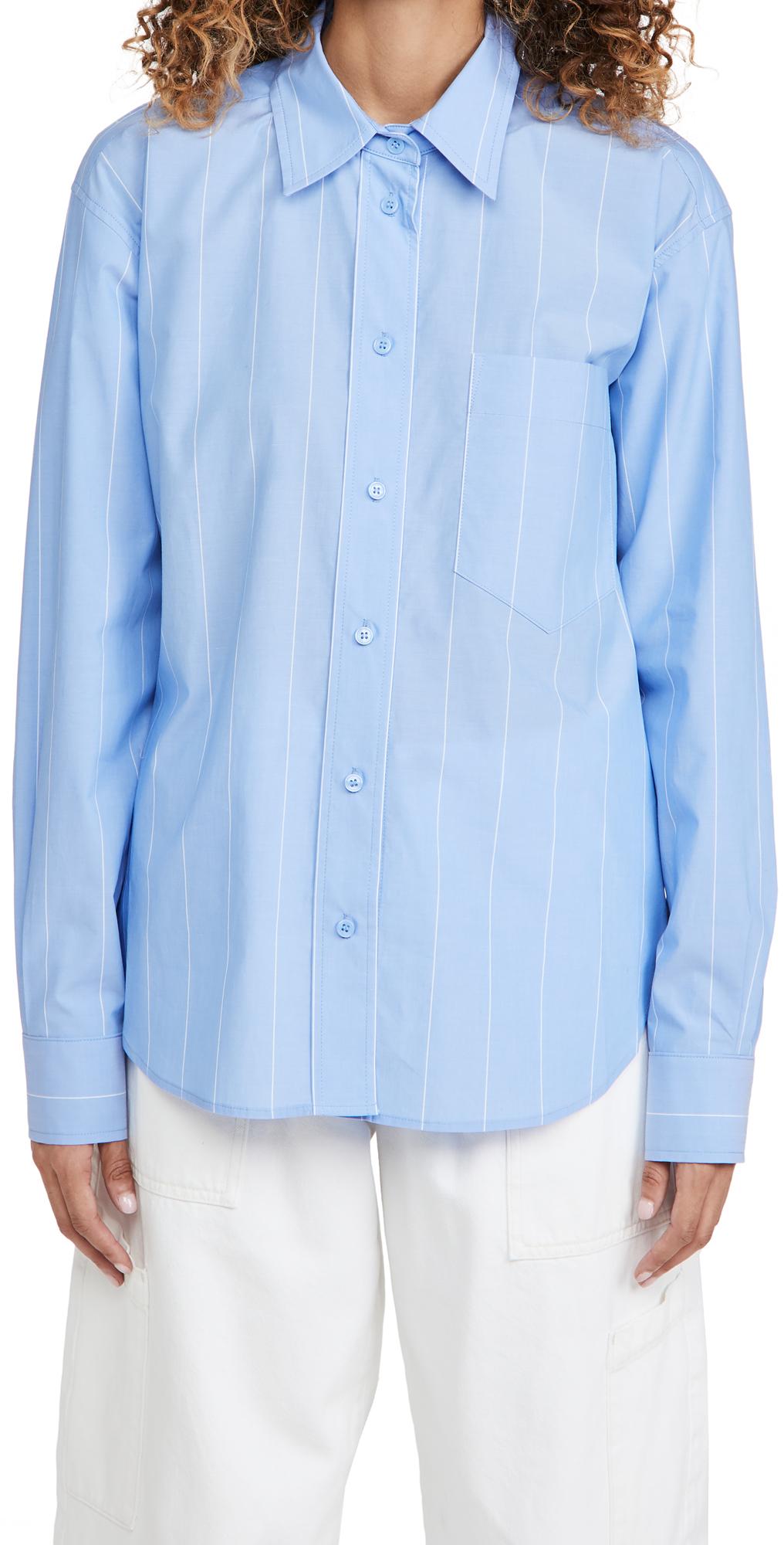 pushBUTTON Layered Sleeve Stripe Shirt