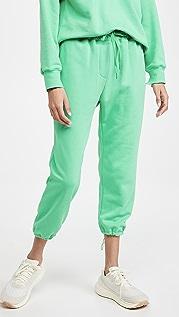 pushBUTTON 绿色束带慢跑裤