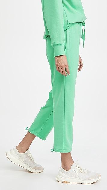 pushBUTTON Drawstring Green Jogger Pants